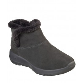 Skechers Μποτάκια Γυναικεία On The Go Joy Bundle Up Charcoal 15501 CHAR