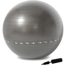 Μπάλα γυμναστικής Fitball 75 cm με τρόμπα Grey