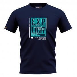 Ανδρική Κοντομάνικη Μπλούζα T-SHIRT MAGNETIC NORTH graphic 19017 navy blue
