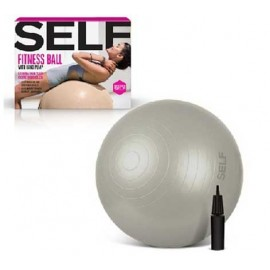 Μπάλα γυμναστικής Self Fitness Exercise Stability Ball with Pump 65 CM Grey