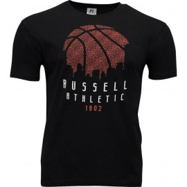 T-SHIRT Russell Athletic B Ball Skyline A0-040-1-099 ΜΑΥΡΟ