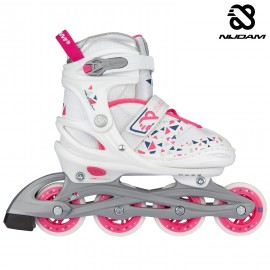 "Nijdam Inline Skates Ρυθμιζόμενα""White Wedge"" N20AA04"