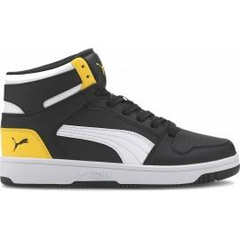 Puma Εφηβικό Παπούτσι Μόδας Fw20 Rebound Layup Sl Jr 370486-12 Black-White-Yellow