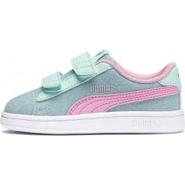 Παιδικά Αθλητικά Παπούτσια Puma Smash V2 Glitz Glam 367380-07 AQUA/PINK