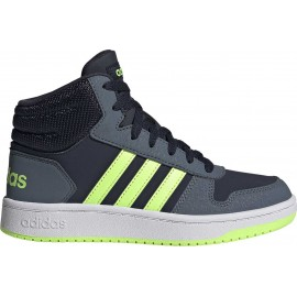 Adidas Αθλητικό Μποτάκι Αγόρι Hoops Mid 2.0 K FW3157 - ΜΠΛΕ-ΛΑΧΑΝΙ