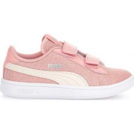 Παιδικά Αθλητικά Παπούτσια Puma Smash V2 Glitz Glam V Ps 367378-09 B.rose-Parchment/silver