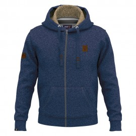 Magnetic North Men's Zipper Hoodie Sherpa (19077-Navy Blue Melange)