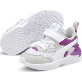 Puma Bebe Παπούτσι Ss21 Lite Radiate Ac Inf 375069-02 White-Purple