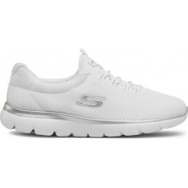 Skechers Summits Women's Shoes 12980-WSL ΛΕΥΚΟ-ΑΣΗΜΙ