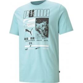 Αντρικό T-shirt Puma Men's Box Tee - 587765-49 angel blue