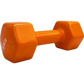 Βάρη βινυλίου 5kg (τεμάχιο) (Πορτοκαλί ) LIGASPORT