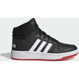 HOOPS 2.0 MID SHOES FY7009 Core Black / Cloud White / Vivid Red