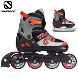 "Nijdam Inline Skates ‑ Παγοπέδιλα Combo ""Red Raider"""