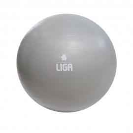 Μπάλα γυμναστικής 55cm (Gym Ball) (γκρι) LIGASPORT*
