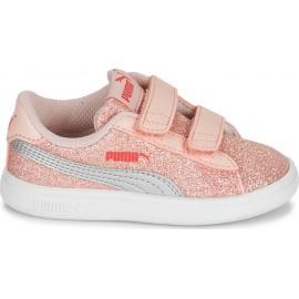 Puma Smash V2 Glitz Βρεφικά Παπούτσια 367380-23 Ροζ