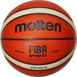Δερμάτινη γυναικεία μπάλα μπάσκετ MOLTEN (BGM6X) indoor outdoor