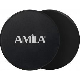 Δίσκοι Ολίσθησης Amila Gliding Pads Μαύρα 95951