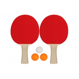 """Σετ 2 Ρακέτες Ping Pong & 3 Μπαλάκια """"Recreational"""" (61UK)"""